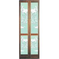 柚木纹折叠门