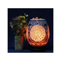 供应陶瓷水晶盐灯/岩盐灯-玉兰瓶,陶瓷灯