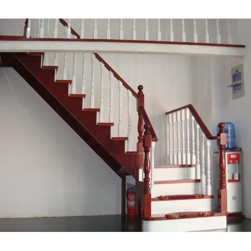 南京红灯木楼梯-l型木楼梯-装修实景图12
