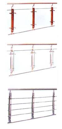 南京红灯木楼梯-不锈钢楼梯站柱1