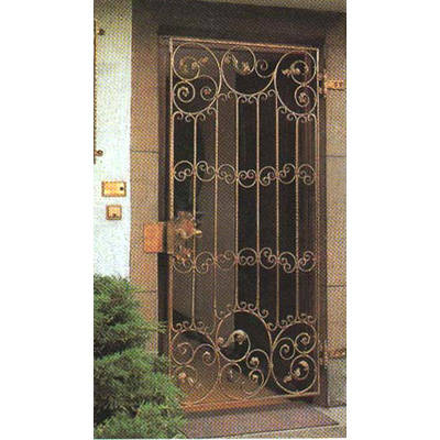 南京联润铁艺装饰工程公司-大门系列-锻钢大门-DD023
