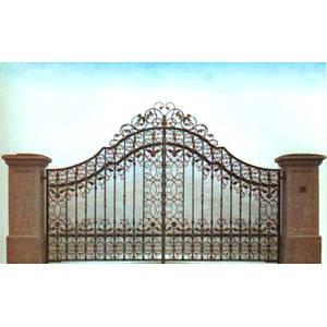 南京联润铁艺装饰工程公司-大门系列-锻钢大门-DD122