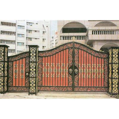 南京联润铁艺装饰工程公司-大门系列-铸铁大门-HF-D064