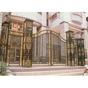 南京联润铁艺装饰工程公司-大门系列-铸铁大门-HF-D065
