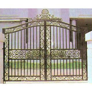 南京联润铁艺装饰工程公司-大门系列-铸铁大门-HF-D