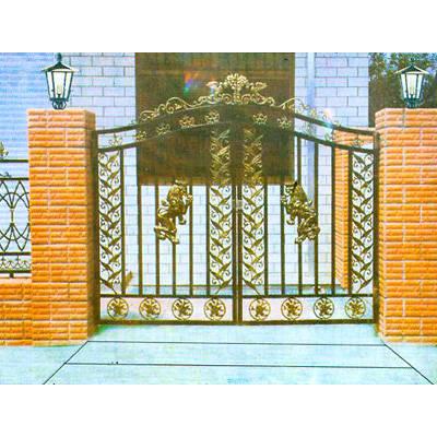 南京联润铁艺装饰工程公司-大门系列-铸铁大门-艺术大门-00