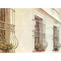 南京聯潤鐵藝不銹鋼裝飾-防盜窗系列-鍛鋼防盜窗