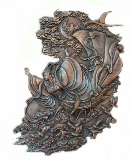 飞天锻铜浮雕