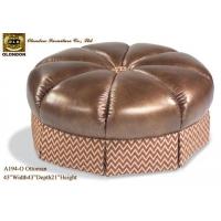 脚凳 真皮沙发 广东皮沙发厂 Real Leather So
