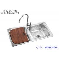 整体拉伸一体成型不锈钢水槽DL-7900