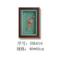 贝壳花卉装饰画