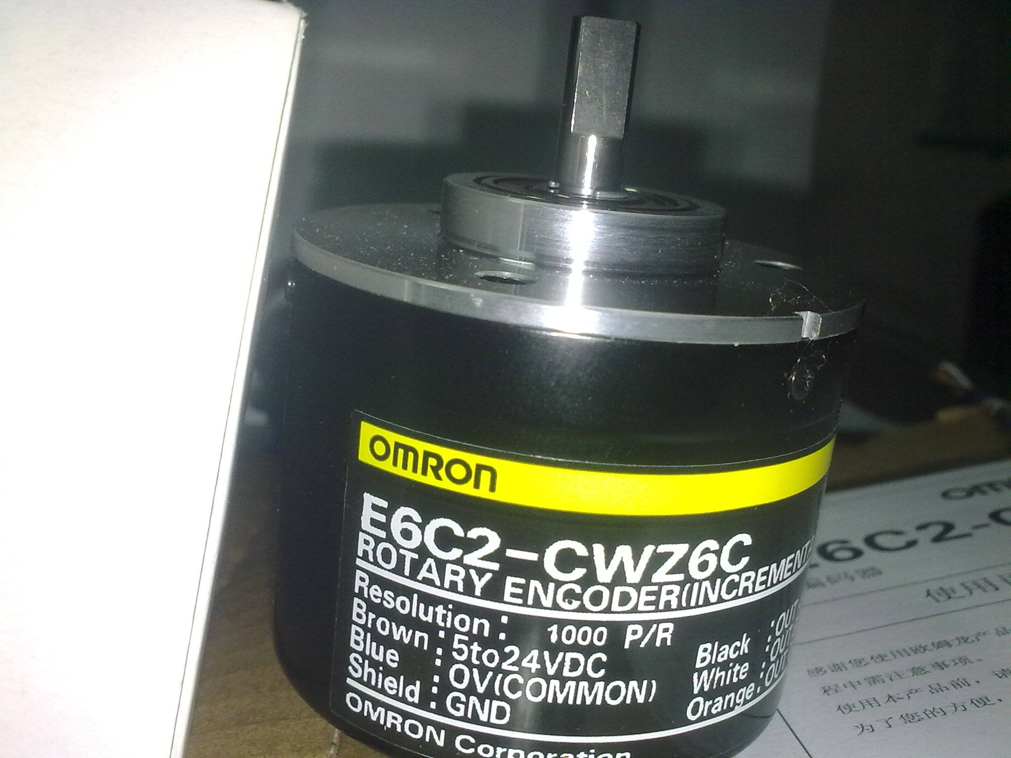 现货欧姆龙omron编码器e6c2-cwz6c