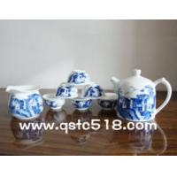 北京茶具批发 北京青花瓷功夫茶具 景德镇青花瓷茶具厂家