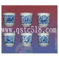 青花瓷口杯 北京二锅头酒杯 白酒口杯 景德镇陶瓷厂
