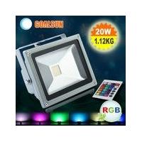 户外防水调光广告牌美化照明专用LED七色投光灯50W
