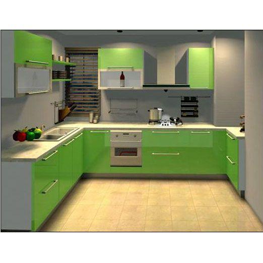 绿色欧式橱柜装修图片