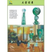 水幕墙,屏风,酒柜,背景墙,KTV台,花瓶,玻璃雕塑
