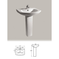 24寸立柱式洗面盆