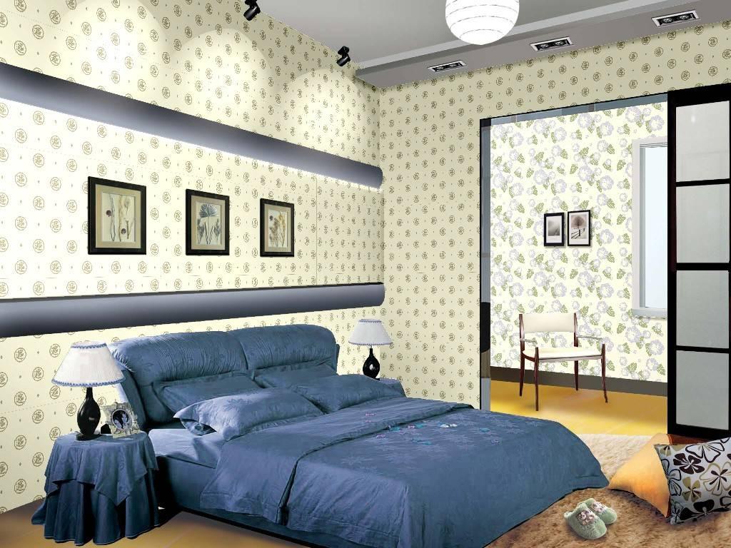 液体壁纸卧室效果图/壁纸效果图/卧室效果图