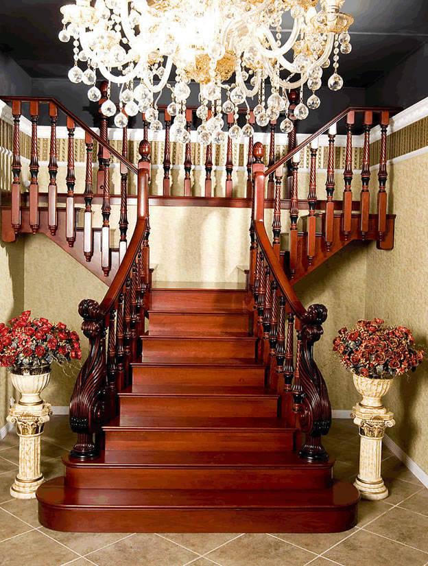 玻璃楼梯 实木楼梯 阿拉斯加-3