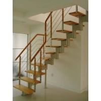旋转楼梯-南京楼梯-柏雅居楼梯-钢木楼梯01