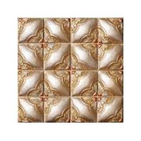 金色客厅电视床头背景手工砖树脂石材地中海马赛克墙贴拼图