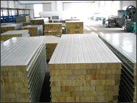 彩钢岩棉复合板 防火岩棉复合板彩钢离心玻璃棉夹芯板
