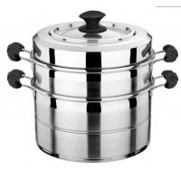 不锈钢 直角蒸锅,单层/双层,复底 质量保证
