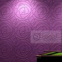 牡丹-立体背景墙-电视背景墙-logo背景墙