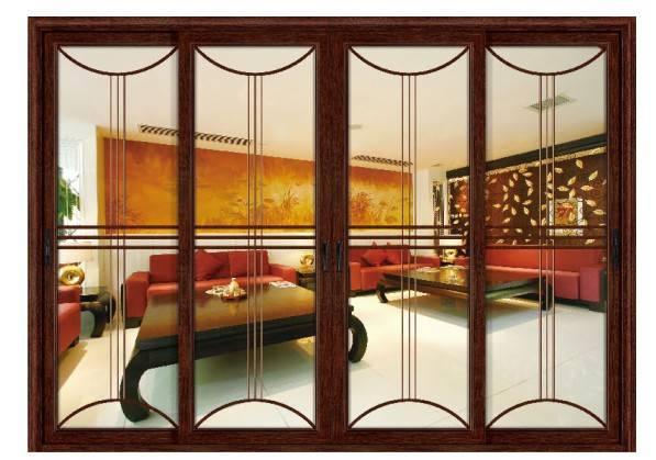 简欧式客厅卧室隔断实木白色四扇推拉门