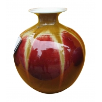 供应景德镇窑盛陶瓷窑变瓷圆球瓶