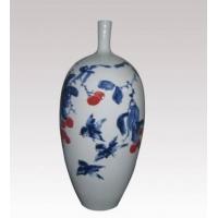 供应窑盛陶瓷青花写意细口瓶