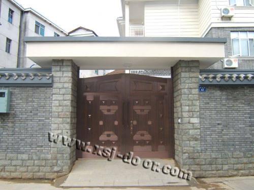 铜艺智能庭院门
