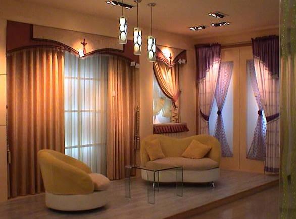 欧式客厅窗帘产品图片