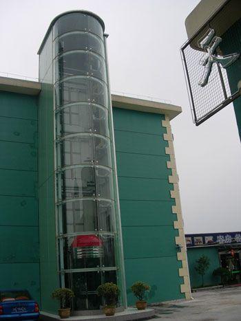 辽宁富士点式观光电梯玻璃幕墙外罩产品图片,辽宁富士点式观光电梯