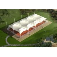 网球场遮阳膜结构