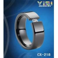 外贸戒指批发|欧美大牌高端品质陶瓷镶钻戒指|厂价直销