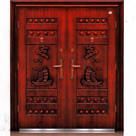 福安仿红铜对开门(平板)BY-D-46R