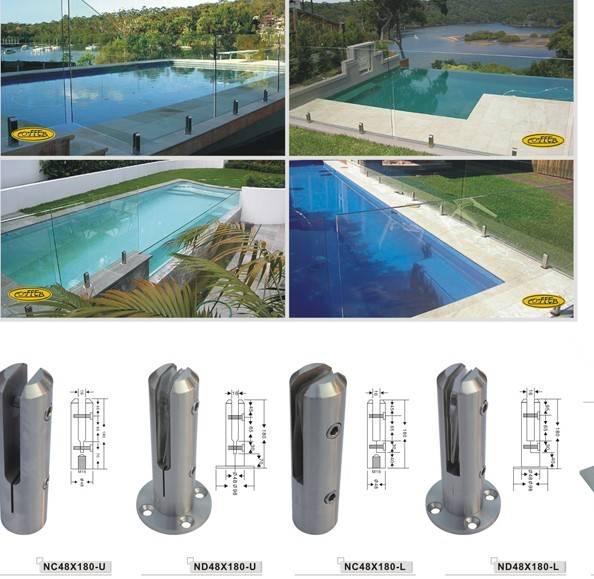 不锈钢泳池玻璃夹 高清图片