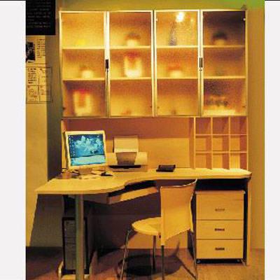 好莱客衣柜 整体书柜 电脑转角台书柜产品图片,好莱客衣柜 整体书柜