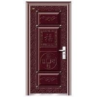 6公分(枣红金属漆)钢质门(招财进宝)(先锋门业)