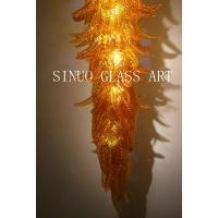 厦门现代艺术玻璃灯饰  订制玻璃艺术吊灯