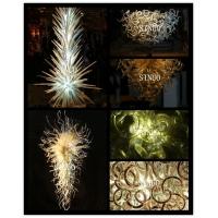 五星酒店大型现代玻璃艺术灯饰   酒店玻璃雕塑