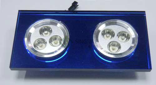 6w瓦双头水晶蓝色led天花灯