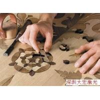 木皮、木地板拼花激光切割机雕刻机